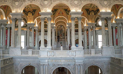Photograph - Library Of Congress Great Hall II by Jared Windler