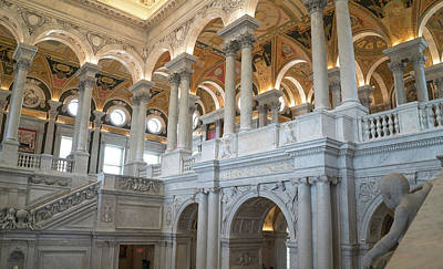 Photograph - Library Of Congress Great Hall by Jared Windler