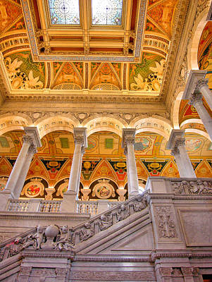 Library Of Congress II Art Print by Steven Ainsworth