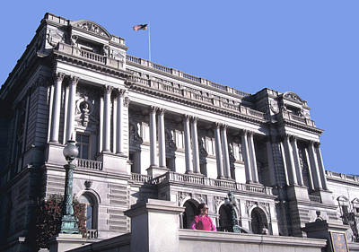 Photograph - Library Of Congress In Washington Dc by Carl Purcell