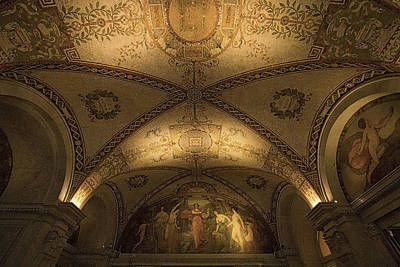 Photograph - Library Of Congress Mural by Stuart Litoff