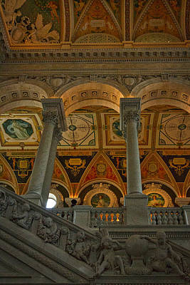 Photograph - Library Of Congress Staircase by Stuart Litoff