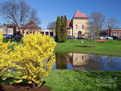 Photograph - Library Park, Bath, Maine -10096 by John Bald