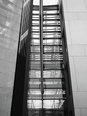Black Art Photograph - Library Skyway by Rona Black
