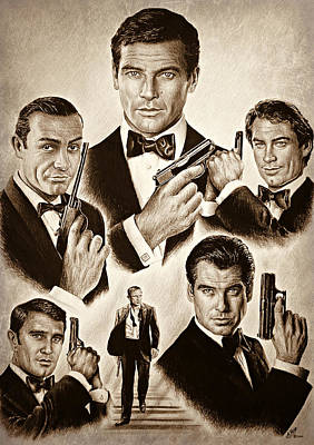 Movie Art Drawing - Licence To Kill Smooth Edit by Andrew Read