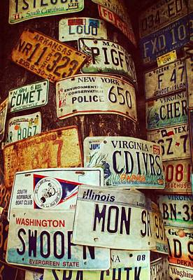 License Plate Art Print by JAMART Photography