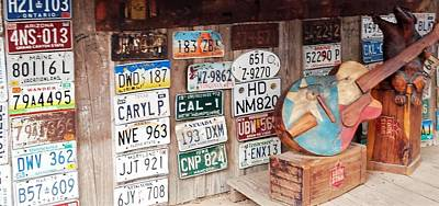 Photograph - License Plates Luckenbach Texas by Suzanne Theis