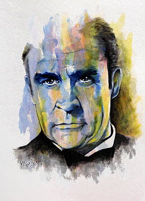 Painting - License To Kill - Sean Connery by William Walts