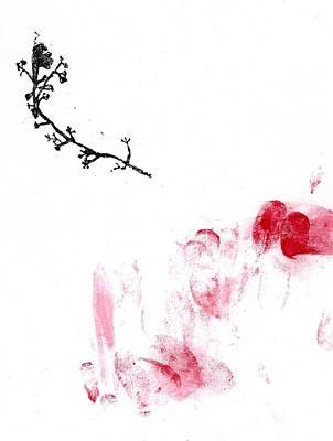 Flora Drawing - Lichen by Bella Larsson