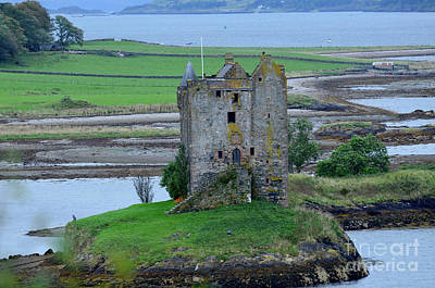 Photograph - Lichen Covered Ruins Of Castle Stalker by DejaVu Designs