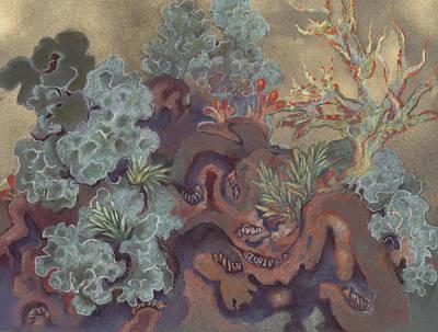 Painting - Lichen Landscape by Shoshanah Dubiner