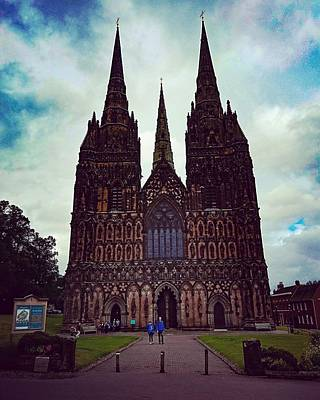 Photograph - Lichfield Cathedral by Samuel Pye