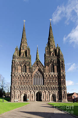 Photograph - Lichfield Cathedral by Steev Stamford