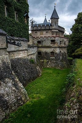 Historic Architecture Photograph - Lichtenstein Castle Moat - Baden Wurttemberg - Germany  by Gary Whitton
