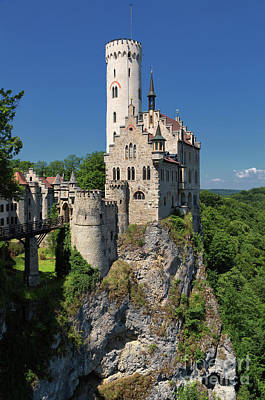 Photograph - Lichtenstein Castle by Yair Karelic