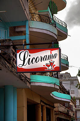 Photograph - Licorama Bar Liquor Store In Havana Cuba At Calle 6 by Charles Harden