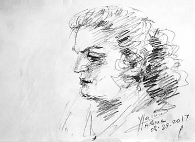 Lady Drawing - Lida by Ylli Haruni