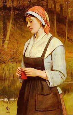 Lidderdale Charles Sillem Knitting Art Print