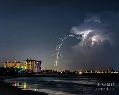Photograph - Lido Beach Lightning by Damon Powers