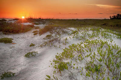 Photograph - Lido Beach Sunset by Mick Burkey