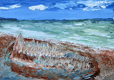 Painting - Lido Sandcastle by Chrys Wilson