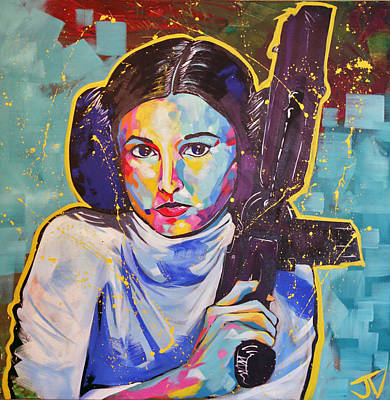 Painting - Princess Leia by Jay V Art