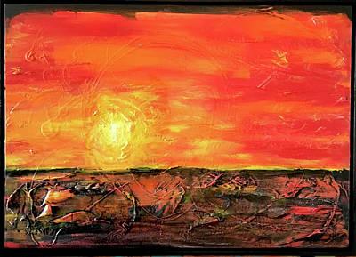 Joan Raspo Wall Art - Painting - Lies Beneath by Joan Raspo