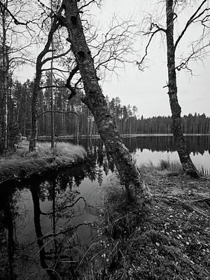 Photograph - Liesijoki Fall Bw by Jouko Lehto