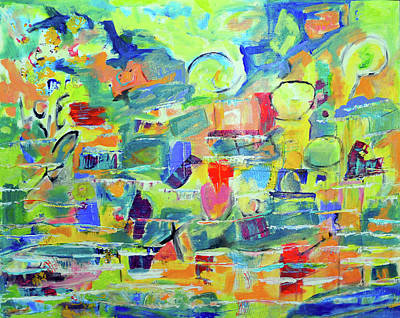 Painting - Life Abstract by Haleh Mahbod