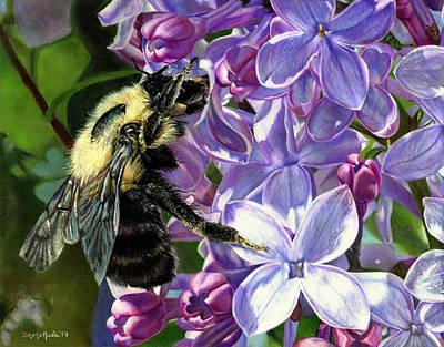 Life Among The Lilacs Art Print