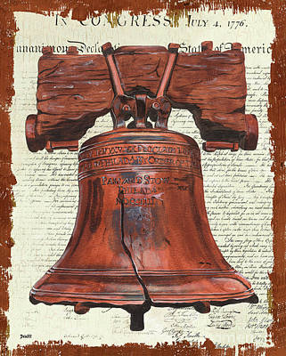Bells Painting - Life And Liberty by Debbie DeWitt