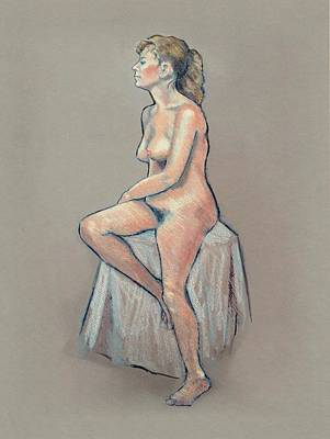 Drawing - Life Drawing, Colour Pencil by Joyce Geleynse