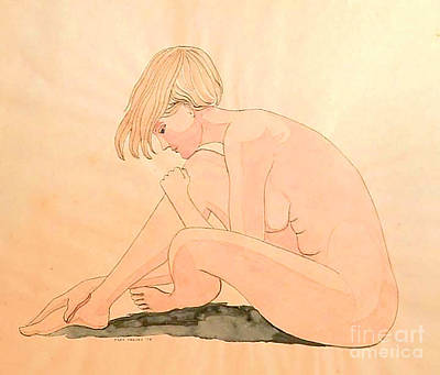 Painting - Life Drawing Watercolor by Fred Jinkins