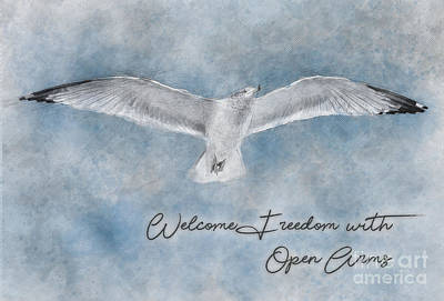 Photograph - Life Empowering Metaphors- Welcome Freedom With Open Arms by James Hennis