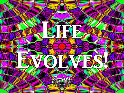 Life Evolves Art Print by Barbara Tristan