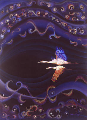 Near Death Experience Painting - Life Force That Unifies by Robin Aisha Landsong