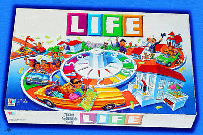 Painting - Life Game Of Life Board Game Painting by Tony Rubino
