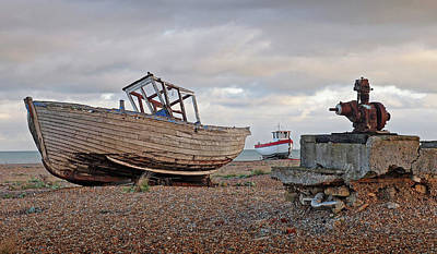 Photograph - Life Goes On - Old Fishing Boats by Gill Billington