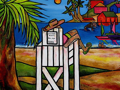Painting - Life Guard In Jamaica by Patti Schermerhorn