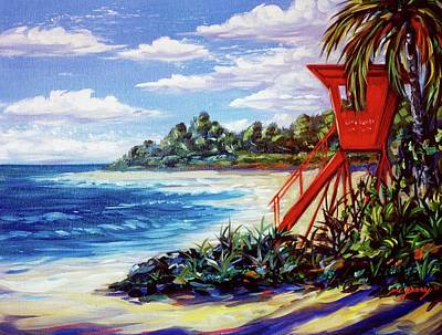 Painting - Life Guard Stand, Hawaii by Dennis McGeary