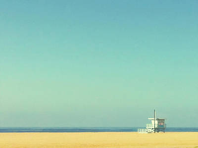 Color Image Photograph - Life Guard Tower by Denise Taylor