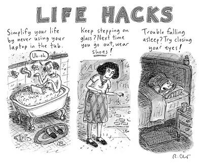 Drawing - Life Hacks by Roz Chast