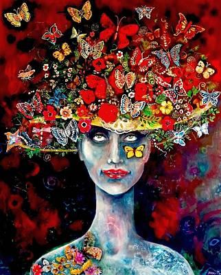 Wall Art - Mixed Media - Life Hat by Jakki Moore