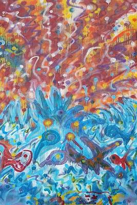 Painting - Life Ignition Mural V1 by Julia Woodman