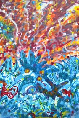 Painting - Life Ignition Mural V2 by Julia Woodman