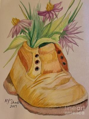 Painting - Life In A Shoe  by Maria Urso