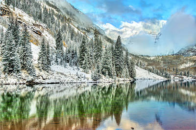 Perfect Christmas Card Photograph - Colorado Living by Gregory Ballos