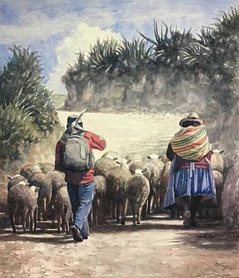 Painting - Life In Peru by Janet King