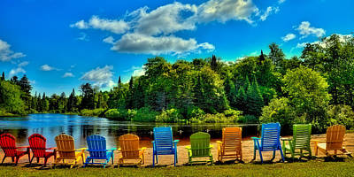 Adirondack Chairs Photograph - Life In The Adirondack Mountains by David Patterson