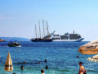 Photograph - Life In The Adriatic Sea Dubrovnik by Lance Sheridan-Peel